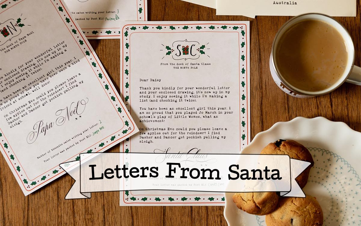 product category letters from Santa
